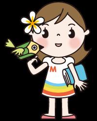 小鳥肩の女の子