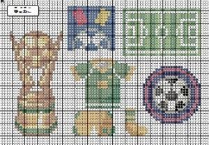 サッカー図案