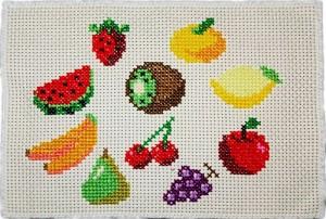 フルーツの刺しゅう